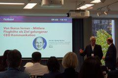 Prof. Dr. Christof Ehrhart (Bosch) - FISHBOWL: Von Ikarus lernen – Mittlere Flughöhe als Ziel gelungener CEO Kommunikation | (Foto: Milena-Marie Zöller [Quadriga])